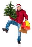 Mann in der Winterkleidung Stockfotografie