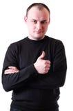 Mann, der Zeigefinger zeigt Lizenzfreie Stockbilder