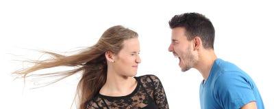Mann, der zu einer Frau schreit Lizenzfreies Stockfoto
