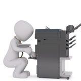 Mann des Büros 3D, der Kopierer verwendet lizenzfreie abbildung