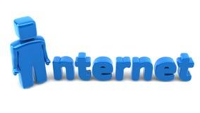 Mann des Internets 3D Lizenzfreies Stockbild