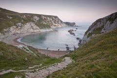 Mann des Krieg-Schachtes, Juraküste, Dorset stockbilder