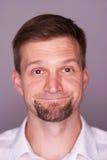 Mann drückt verschiedene Gefühle aus Lizenzfreie Stockbilder
