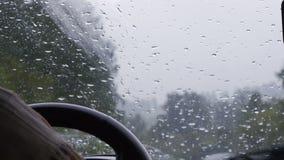 Mann dreht das Lenkrad und reitet stock footage