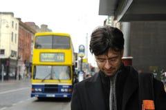 Mann in Dublin Stockbilder