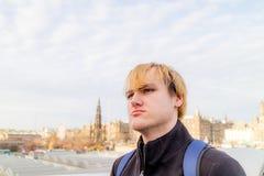 Mann in Edinburgh lizenzfreies stockbild