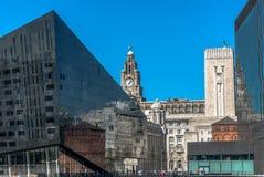 Mann Eiland Liverpool stock foto's