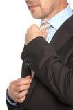 Mann in einem Anzug und in einer Bindung Stockbild