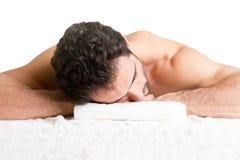 Mann in einem Badekurort Lizenzfreie Stockfotografie