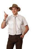 Mann in einem Hut stockfotos