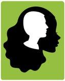 Mann in einem Kopf der Frau Lizenzfreies Stockbild