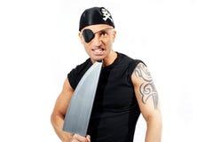 Mann in einem Piratenkostüm Stockbilder