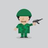 Mann in einem Soldaten Uniform Lizenzfreie Stockfotografie