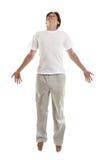 Mann in einem Sprung Lizenzfreie Stockfotos