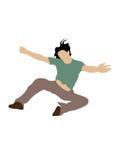 Mann in einer Luft Lizenzfreie Stockbilder