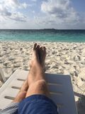 Mann entspannen sich Stockfotografie