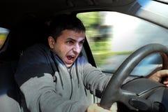 Mann erhält im Unfall Stockfotografie