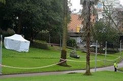 Mann erschossen von Neuseeland-Polizei Lizenzfreie Stockfotos