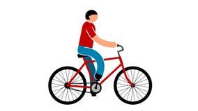 Mann fährt Fahrrad vektor abbildung