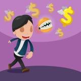Mann-Fang-Dollar-Währungs-Geld Stockfotografie