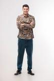 Mann in farbigem Hemd Stockbilder