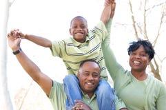 Mann, Frau und Kind Stockbild