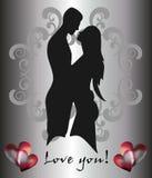 Mann, Frau und Liebeswünsche Stockbild