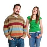Mann-Frauen-Freunde Stockfotos