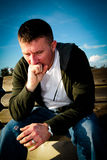 Mann-Gefühls-Druck Stockbilder