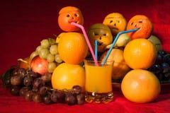 Mann-geformte Zitrusfrucht Stockfoto