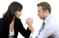 Mann gegen Frau Stockbilder