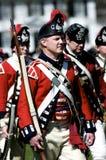 Mann gekleidet als britischer Redcoat Lizenzfreie Stockfotografie
