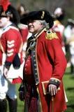 Mann gekleidet als britischer Redcoat Stockfoto