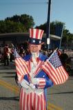 Mann gekleidet als Uncle Sam stockbilder