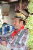 Mann gekleidet herauf als Landwirt Stockbild