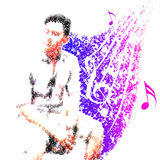 Mann genießen Musik-Melodie für das Leben Lizenzfreie Stockbilder