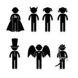 Mann-grundlegendes Lage-Leute-Ikonen-Zeichen-Kleidungs-Kostüm Lizenzfreies Stockbild