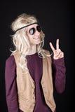 Mann hippie Photographie stock libre de droits
