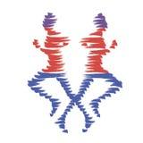Mann-Ikone Olympics des Vektors laufende Lizenzfreies Stockbild