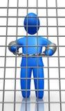 Mann im Gefängnis Stockfotografie