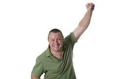 Mann im grünen Hemd Stockbild