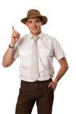 Mann im Hut lizenzfreie stockbilder