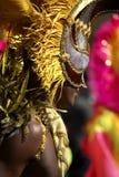 Mann im Kostüm nottinghill Karneval London lizenzfreie stockfotografie