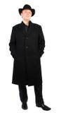 Mann im Mantel lizenzfreies stockfoto