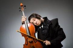 Mann im musikalischen Kunstkonzept Lizenzfreie Stockfotos