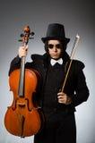 Mann im musikalischen Kunstkonzept Stockbild