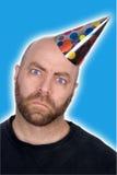 Mann im Partyhut stockfoto