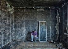 Mann im Raum Lizenzfreies Stockfoto