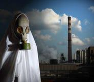 Mann im Respirator Lizenzfreies Stockbild