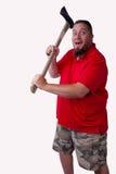 Mann im roten Hemd Stockfotografie